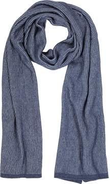 Mila Schon Blue/Light Blue Stripe Wool Blend Long Scarf