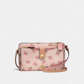 COACH Coach Pop-Up Messenger With Floral Bloom Print - BEECHWOOD FLORAL BLOOM/LIGHT GOLD - STYLE