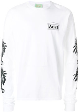 Aries palm tree printed sweatshirt