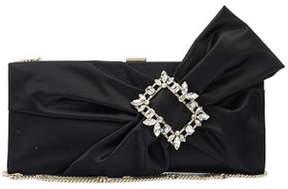 Roger Vivier Trianon Buckle Drape Clutch Bag