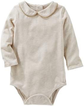 Osh Kosh Oshkosh Bgosh Baby Girl Peter Pan Collar Jersey Bodysuit