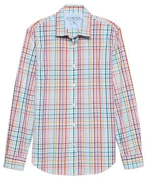 Banana Republic Grant Slim-Fit Luxe Poplin Madras Plaid Shirt