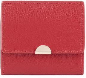 Neiman Marcus Saffiano Flap Card Coin Pouch