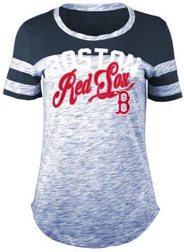 5th & Ocean Women's Boston Red Sox Space Dye Cb Yoke T-Shirt