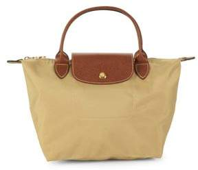 Longchamp Le Pliage Nylon Small Top Handle Bag - BEIGE KHAKI - STYLE