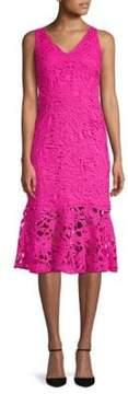 Alexia Admor V-Neck Lace Midi Dress