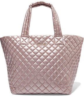 MZ Wallace Metro Medium Metallic Quilted Shell Tote