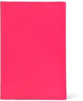 Comme des Garcons Super Fluo Neon Leather Cardholder - Pink