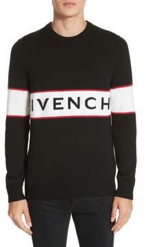 Men's Givenchy Logo Band Wool Sweater