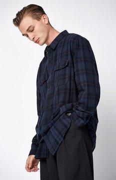 Globe Flanigan Plaid Flannel Long Sleeve Button Up Shirt