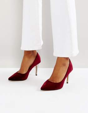 Head Over Heels by Dune Alana Velvet Pointed Pumps
