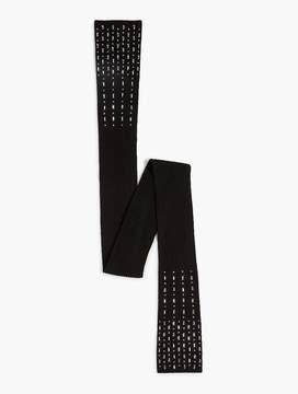 Talbots Bejeweled Rib-Knit Scarf