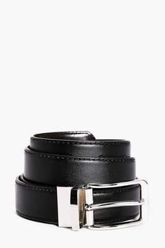 boohoo Reversible Shiny Belt