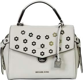 Michael Kors Floral Shoulder Bag - OPTIC WHITE - STYLE