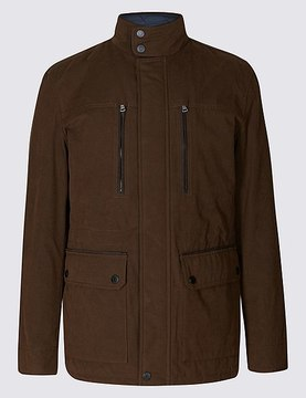 Marks and Spencer Cotton Blend Jacket with StormwearTM