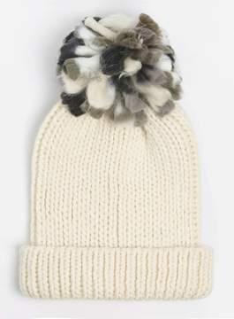 Dorothy Perkins Beige Slub Pom Beanie Hat