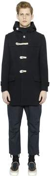 Kolor Hooded Wool Duffle Coat
