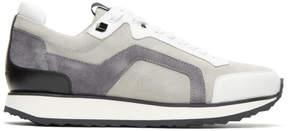 Pierre Hardy Grey Track Sneakers