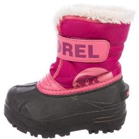 Sorel Girls' Round-Toe Snow Boots