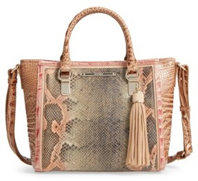 Brahmin Mini Arno Leather Satchel - Pink