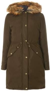 Dorothy Perkins Khaki and Navy Reversible Parka Coat