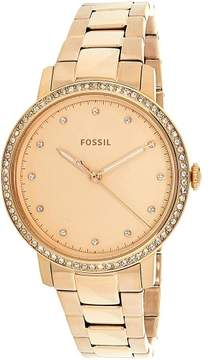 Fossil Neely Rose Gold Dial Ladies Crystal Watch ES4288
