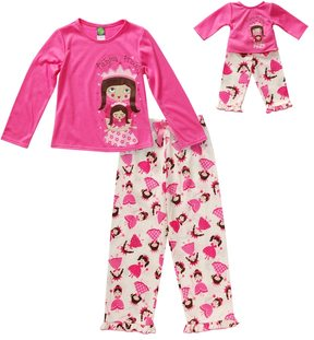 Dollie & Me Girls 4-14 Sparkly Pajama Princess Pajama Set