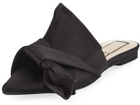 No.21 No. 21 Knotted Satin Point-Toe Flat