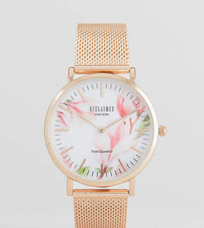 Reclaimed Vintage Inspired Bloom Mesh Watch In Rose Gold 36mm Exclusive to ASOS