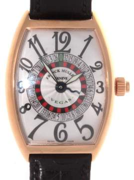 Franck Muller Vegas 6850 Roulette Wheel 18K Rose Gold Automatic 46mm Mens Watch