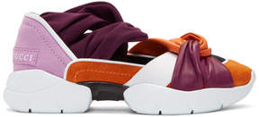 Emilio Pucci Orange and Purple City Ballerina Sneakers