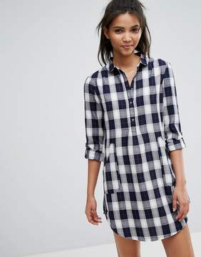 Esprit CHECK PRINT SHIRT DRESS