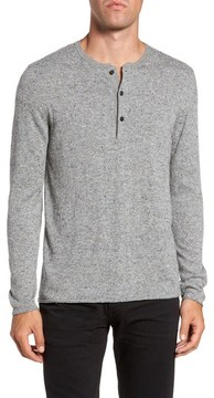 Billy Reid Men's Speckled Henley Sweater
