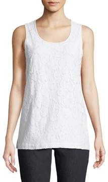 Joan Vass Floral-Lace Layering Tank