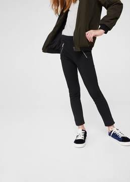 MANGO Contrasting zips leggings