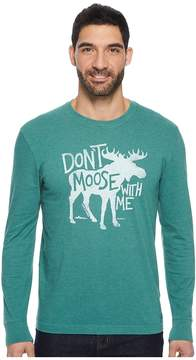 Life is Good Don't Moose Long Sleeve Crusher Tee Men's T Shirt
