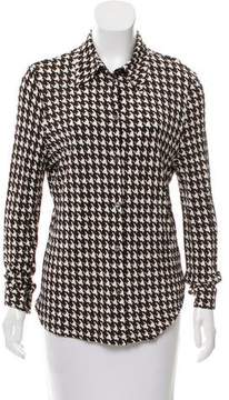 Celine Houndstooth Button-Up Top