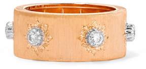 Buccellati Macri 18-karat Pink And White Gold Diamond Ring - Rose gold
