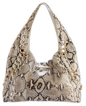 Michael Kors Python ID Chain Hobo - NEUTRALS - STYLE