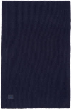 Acne Studios Navy Bansy L Face Scarf