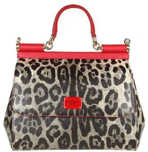 Dolce & Gabbana Handbag Dauphine Leather Maculated And Red Color - NATURAL - STYLE
