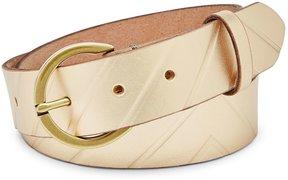 Fossil Metallic Embossed Leather Belt