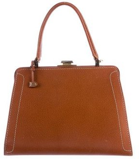 Delvaux Textured Leather Satchel