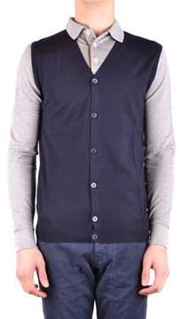 Hosio Men's Blue Wool Vest.