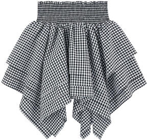 Little Remix Asymmetrical gingham print skirt