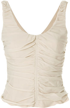 Armani Collezioni ruched detail tank top