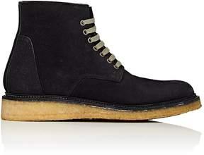 Rick Owens Men's Crepe-Sole Reverse-Leather Boots