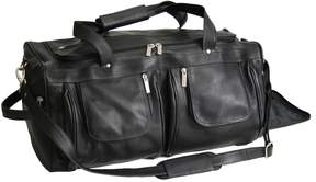 Royce Leather Vaquetta Duffel Bag
