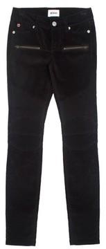 Hudson Girl's Velvet Moto Skinny Jeans