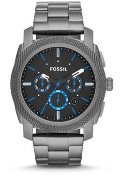 Fossil Machine Chronograph Smoke Stainless Steel Watch